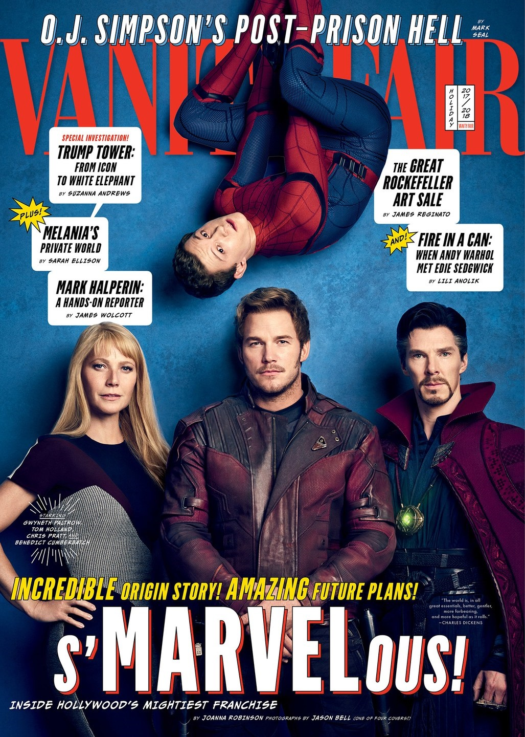 Cover featuring Pepper Potts, Star-Lord, Spider-Man and Doctor Strange