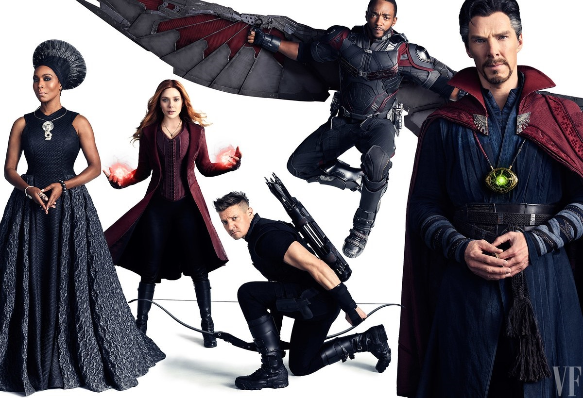 Potrait featuring Ramonda, Scarlet Witch, Hawkeye, Falcon and Doctor Strange