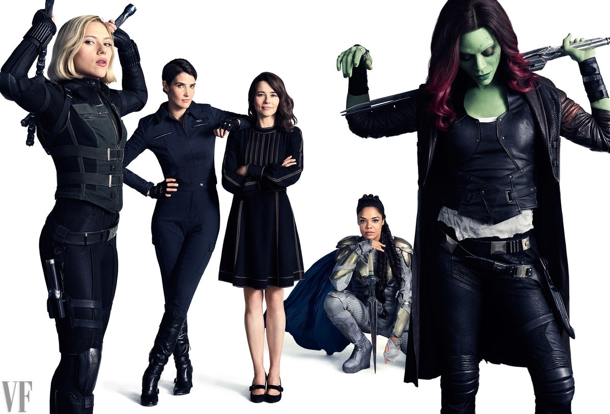 Potrait featuring Black Widow, Maria Hill, Laura Barton, Valkyrie and Gamora