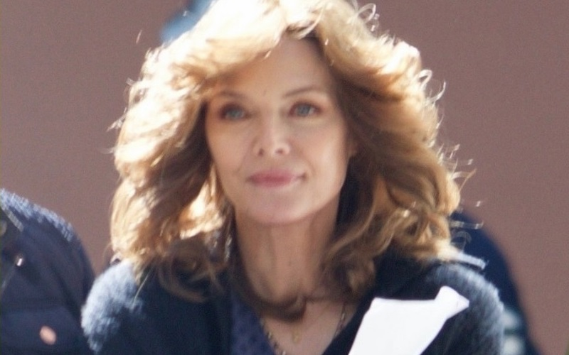 Michelle Pfeiffer as Janet van Dyne on Ant-Man and the Wasp set
