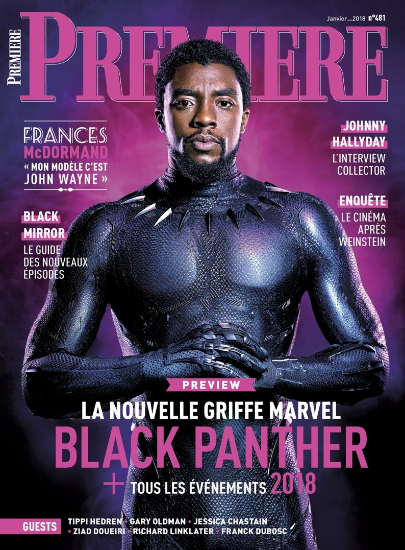 One of the new Black Panther magazine covers