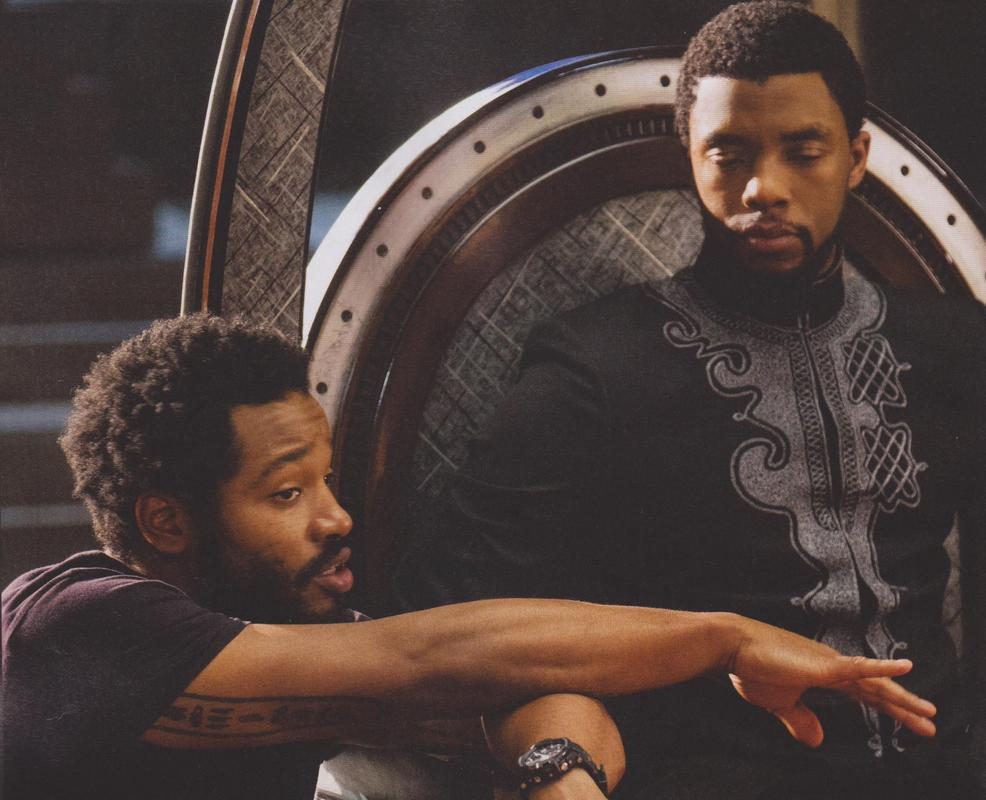 The director and the lead actor of Black Panther