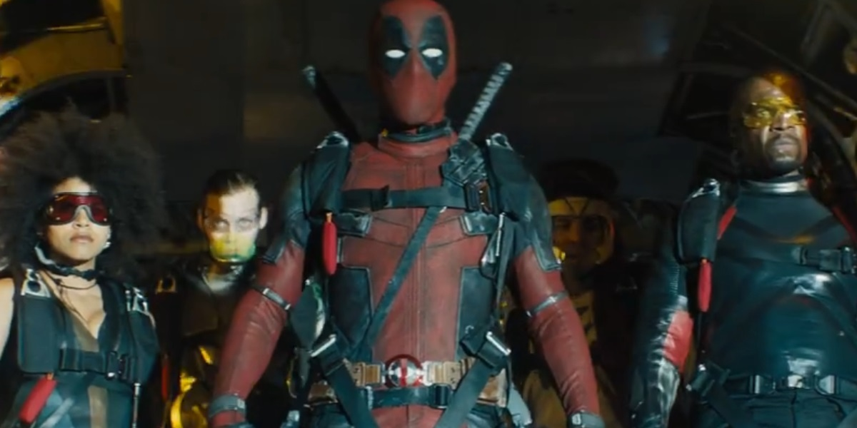 Deadpool, Domino and the three unspecified characters