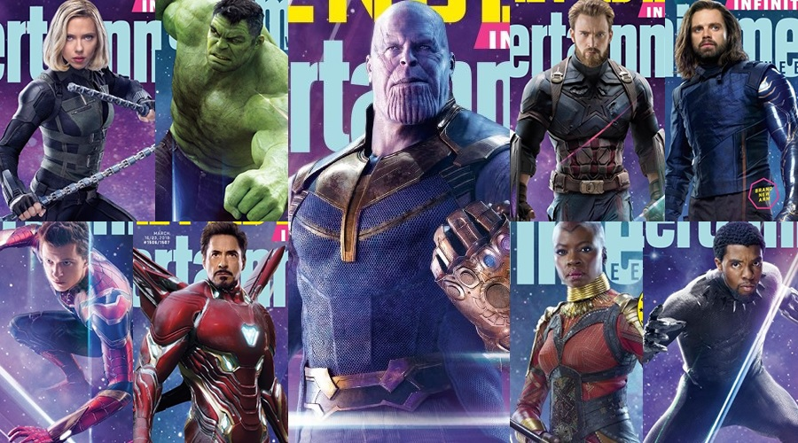 15 new magazine covers featuring Avengers: Infinity War characters and 2 new stills from the movie released!
