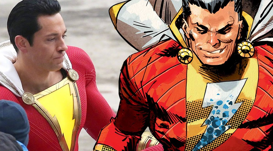 New Shazam! set photos offer detailed look at Zachary Levi's superhero suit!