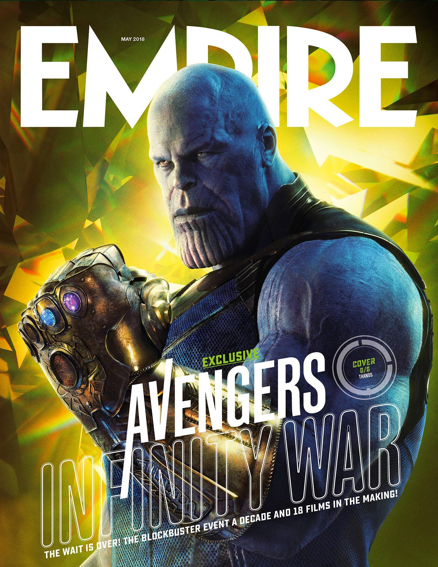 Empire cover featuring Thanos