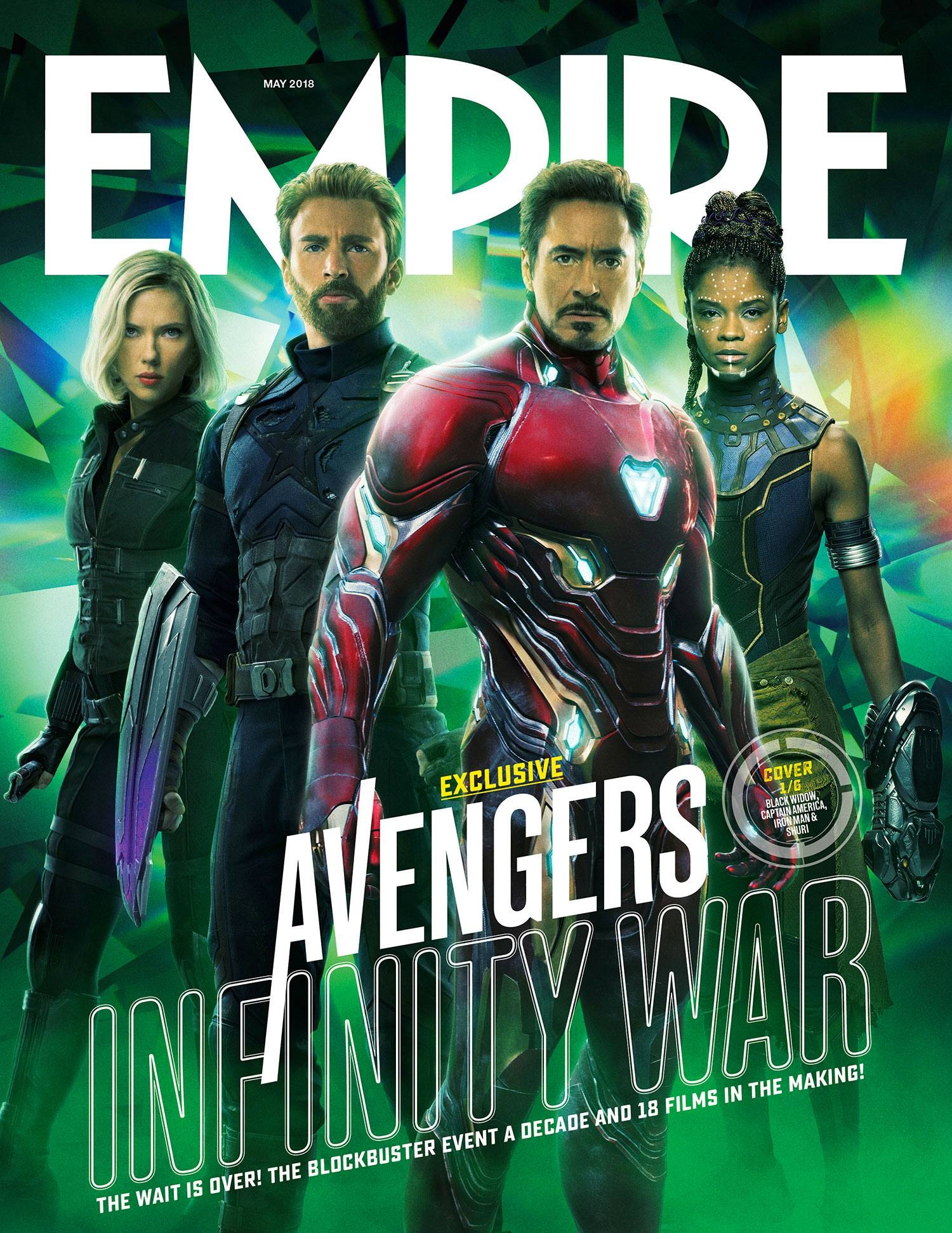 Cover featuring Iron Man, Captain America, Black Widow and Shuri