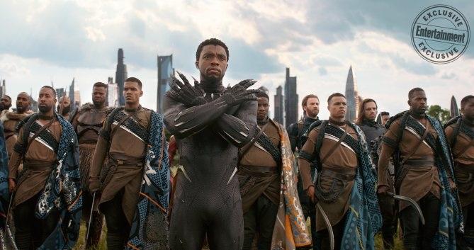 Black Panther and his Wakandan army