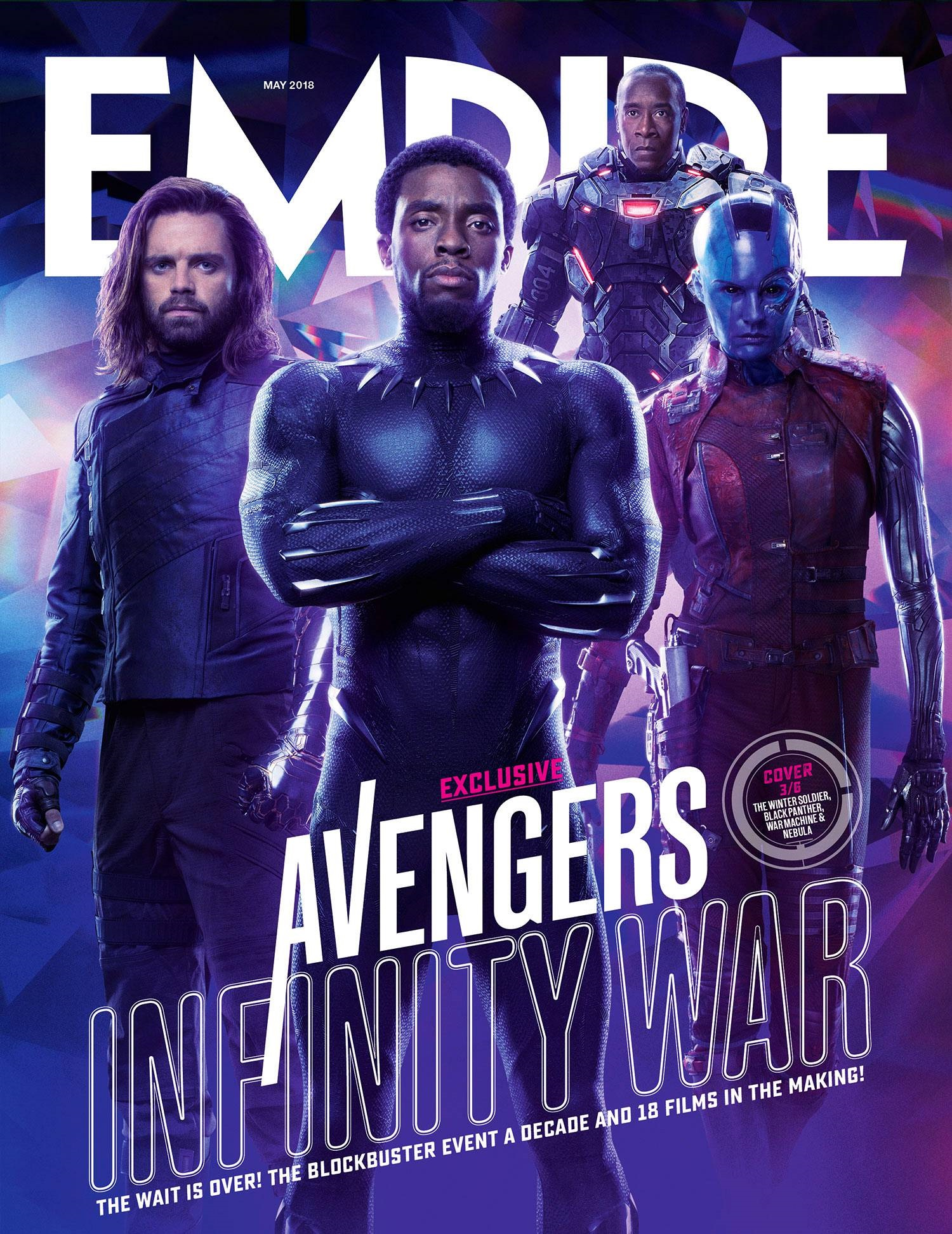 Cover featuring Black Panther, Winter Soldier, War Machine and Nebula