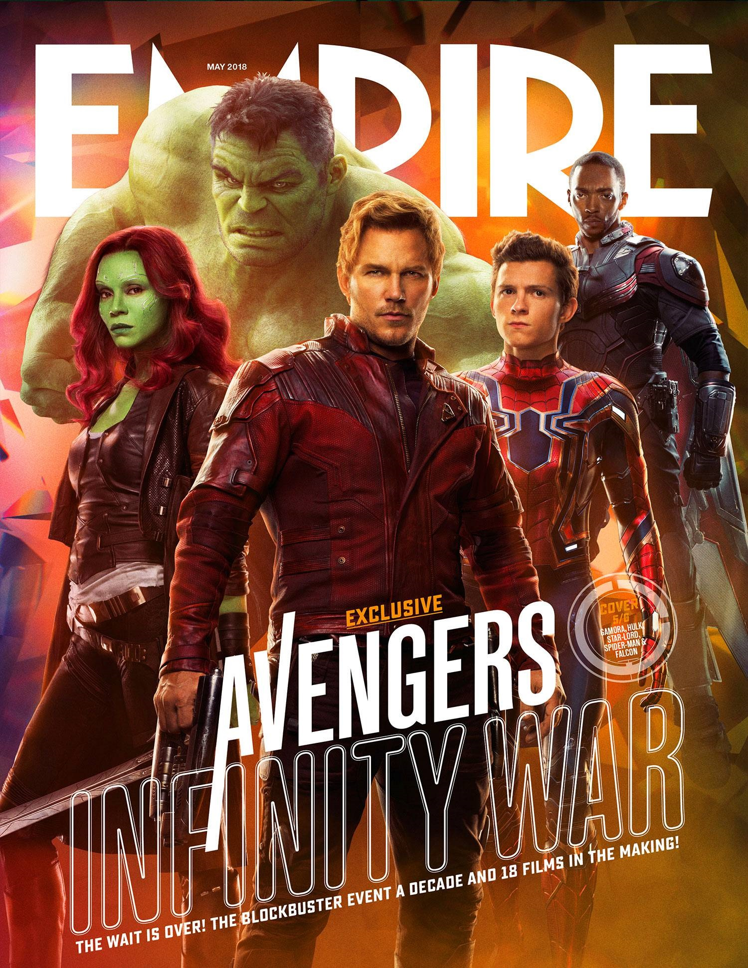 Cover featuring Gamora, Star-Lord, Spider-Man, Falcon and Hulk