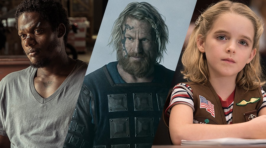 Algenis Perez Soto, Rune Temte, and McKenna Grace - the three new cast members of Captain Marvel