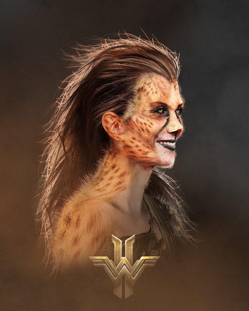 Fan-art depicting Kristen Wiig as Cheetah in Wonder Woman 2