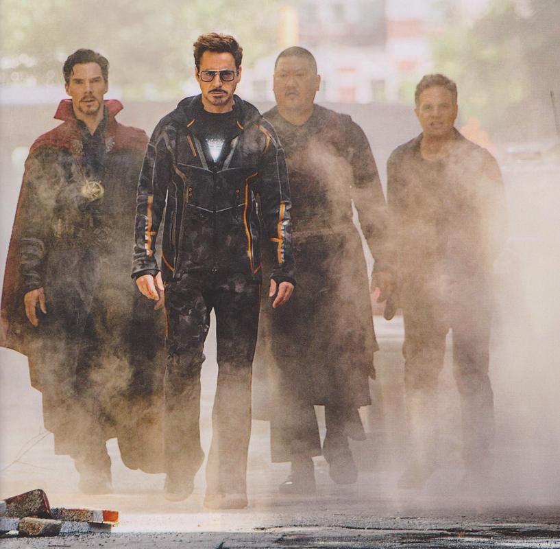 Doctor Strange, Tony Stark, Wong and Bruce Banner