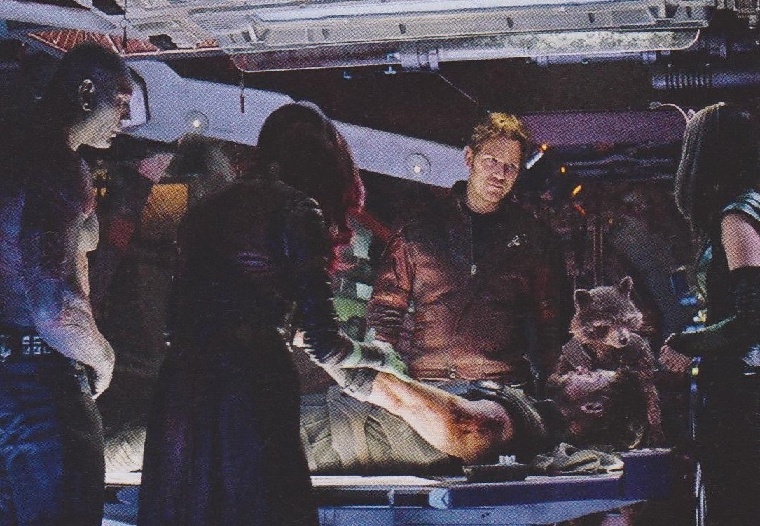 Guardians of the Galaxy members with Thor