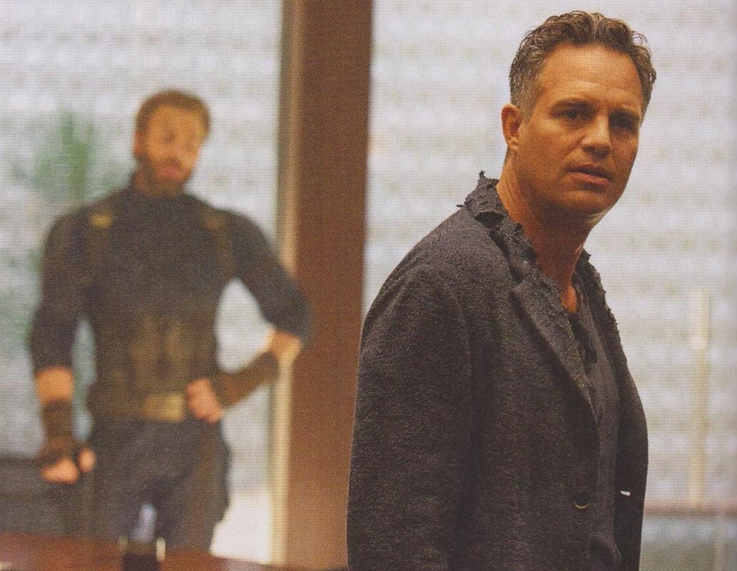 Bruce Banner with Cap on the background