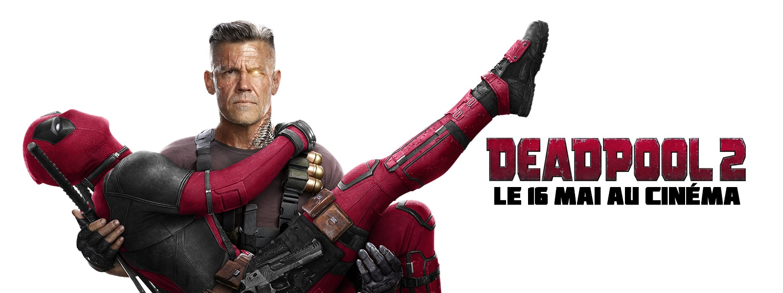 French banner for Deadpool 2 featuring the Merc and Cable