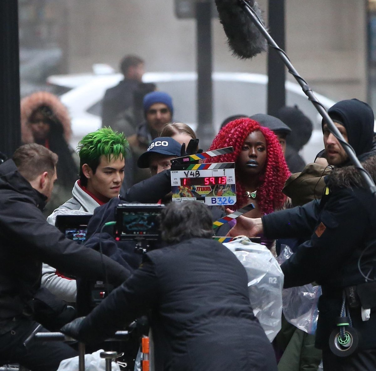 Set photo featuring Potter and Diop