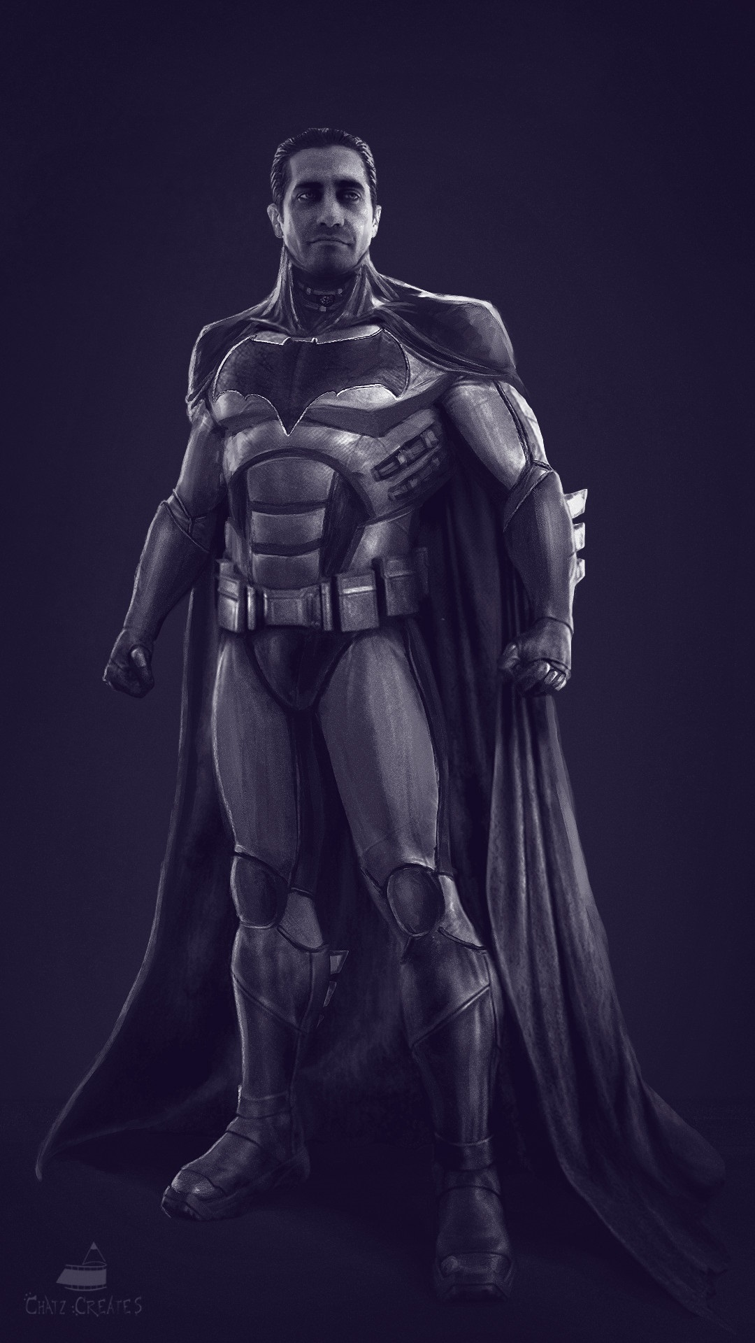 Another fan-art depicting Bat-Gyllenhaal