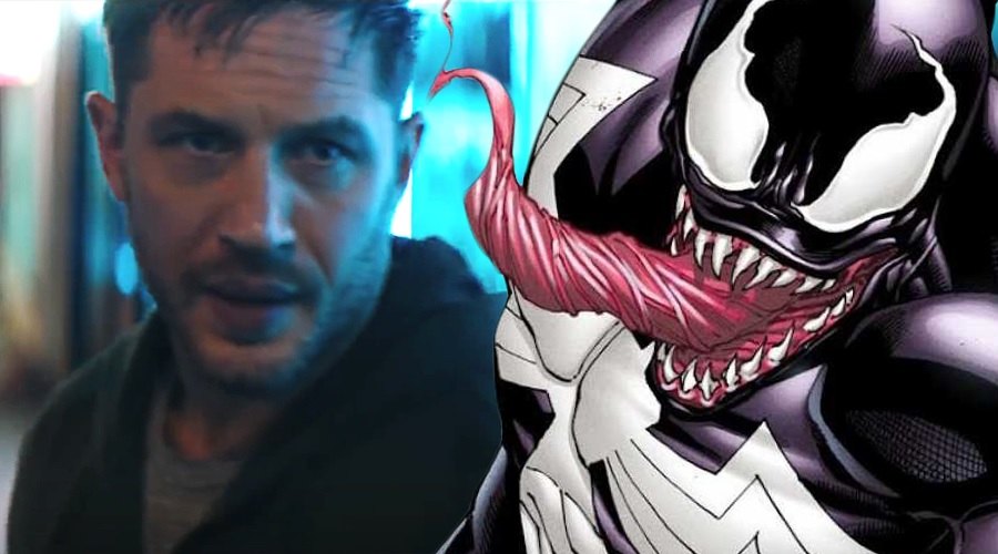 Tom Hardy announces the arrival of new Venom trailer at CinemaCon!