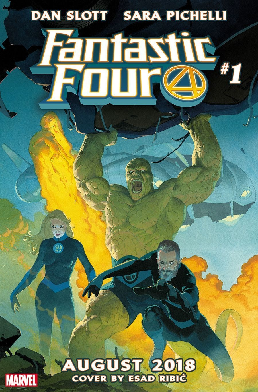 The Fantastic Four cover by Esad Ribic