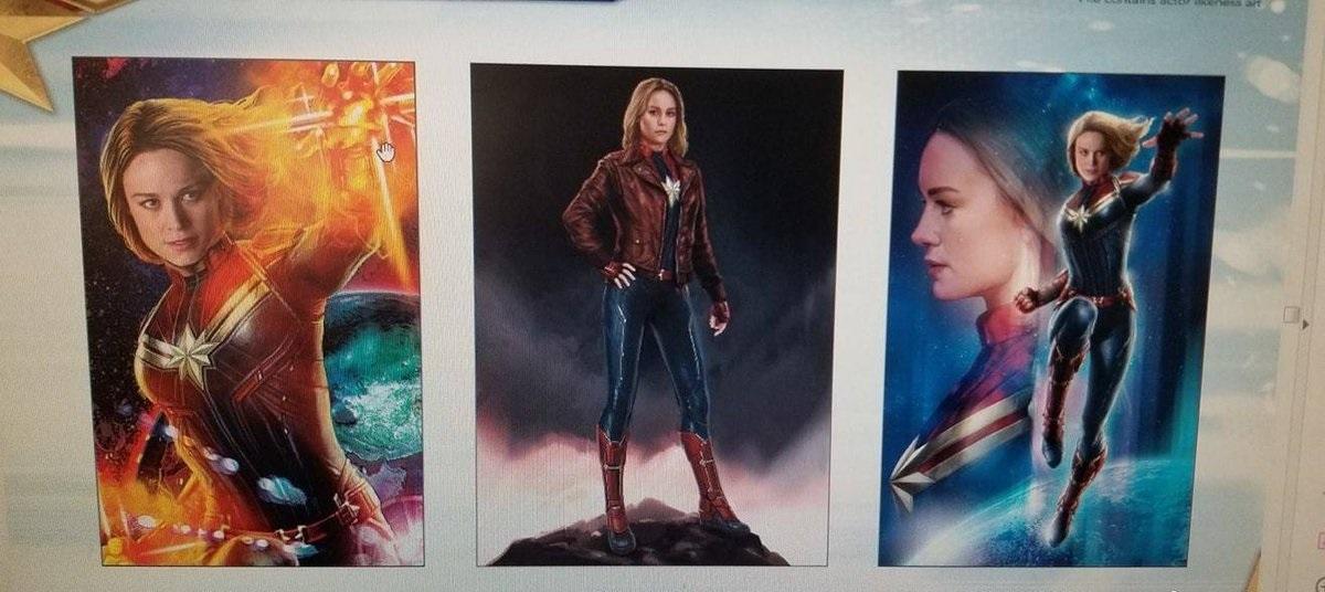 Captain Marvel character designs for Avengers 4