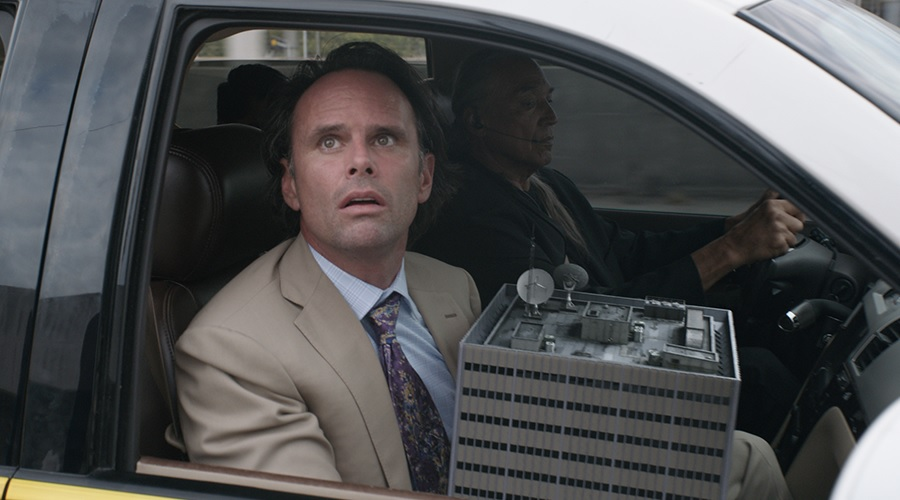 Walton Goggins' Sonny Burch with Hank Pym's lab in Ant-Man and the Wasp
