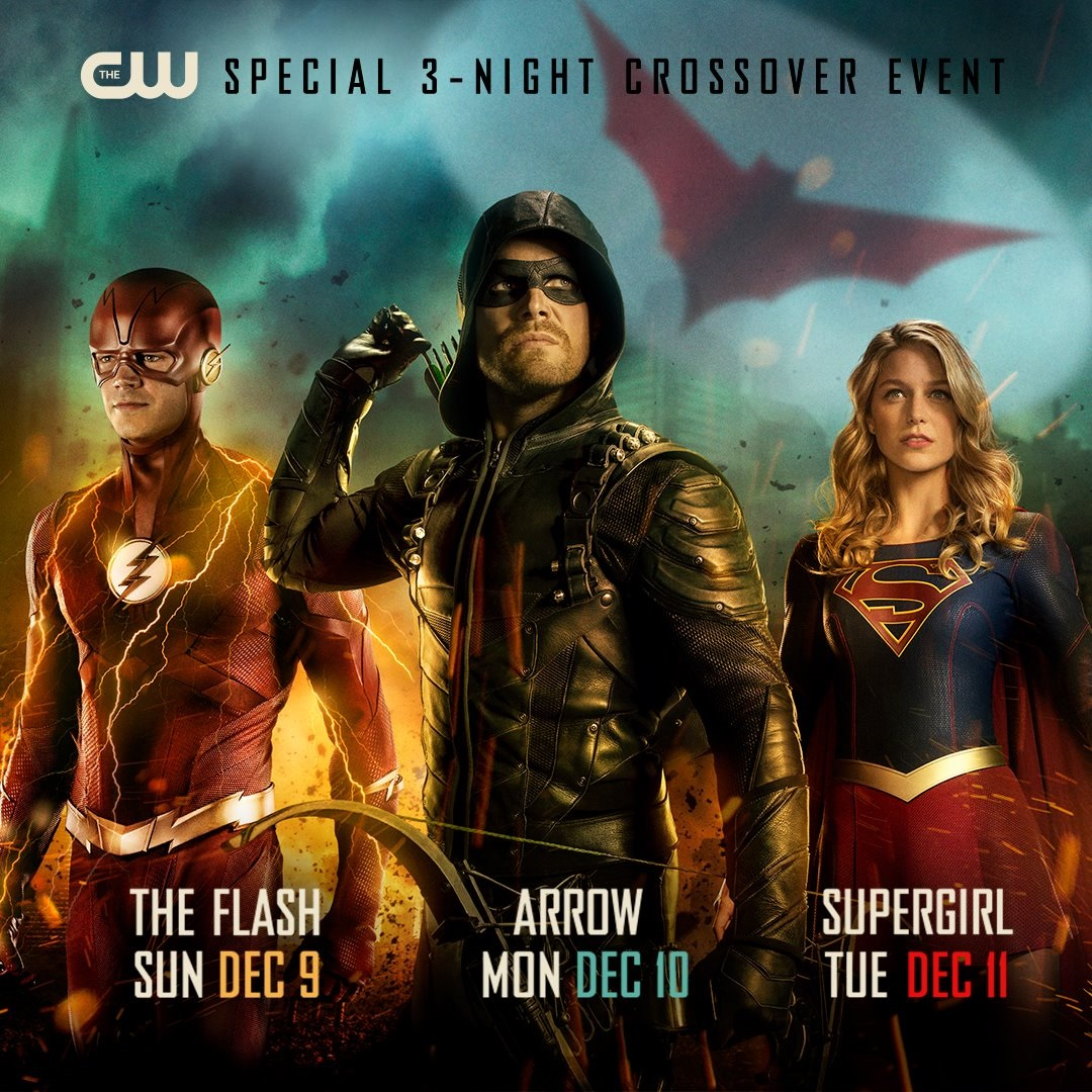 Promotional poster for this year's Arrowverse crossover