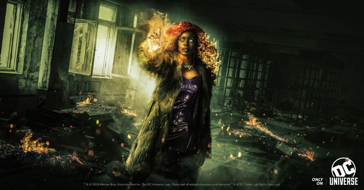 Character banner for Anna Diop's Starfire