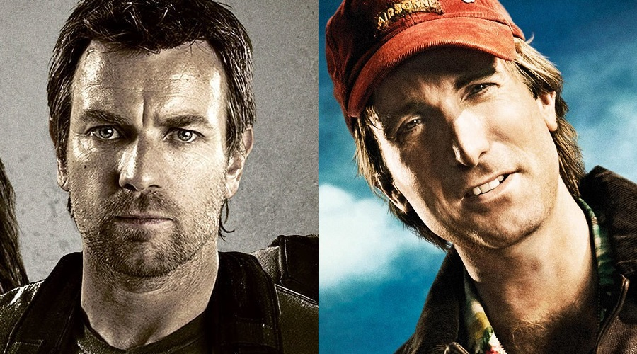 Ewan McGregor and Sharlto Copley - the current frontrunners to play the main antagonist in Birds of Prey