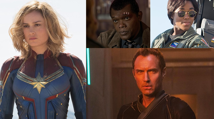 The official first look at Captain Marvel and her allies have arrived!