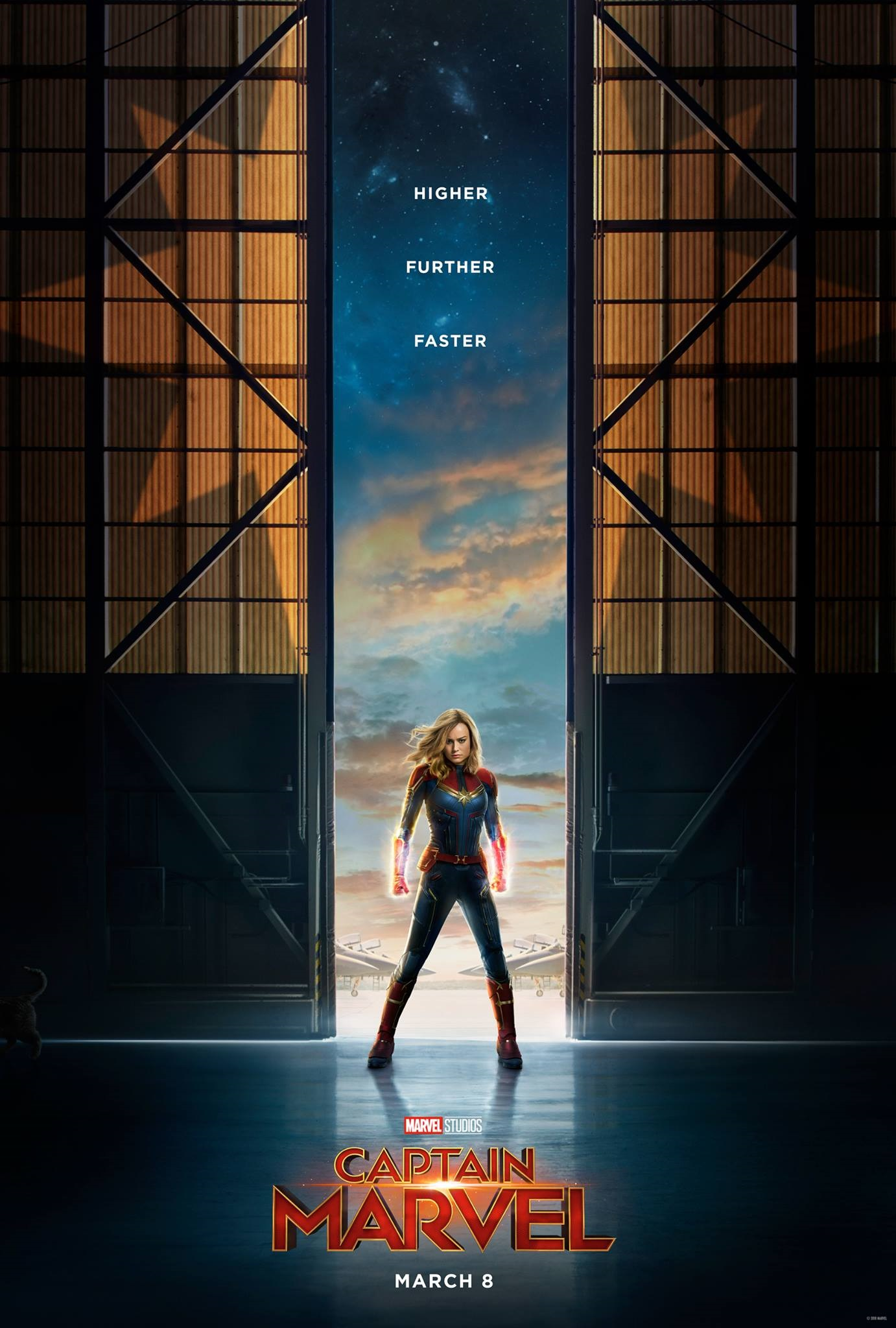 The first official poster for Captain Marvel