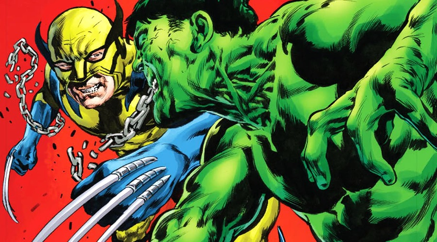 Hulk vs. Wolverine in the comic books
