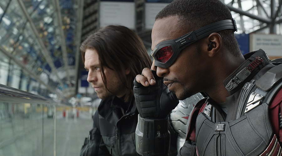Falcon and Winter Soldier in Captain America: Civil War