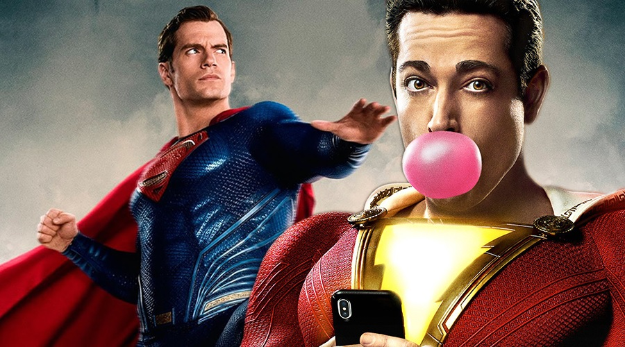 A new teaser for Shazam! includes a Superman reference!