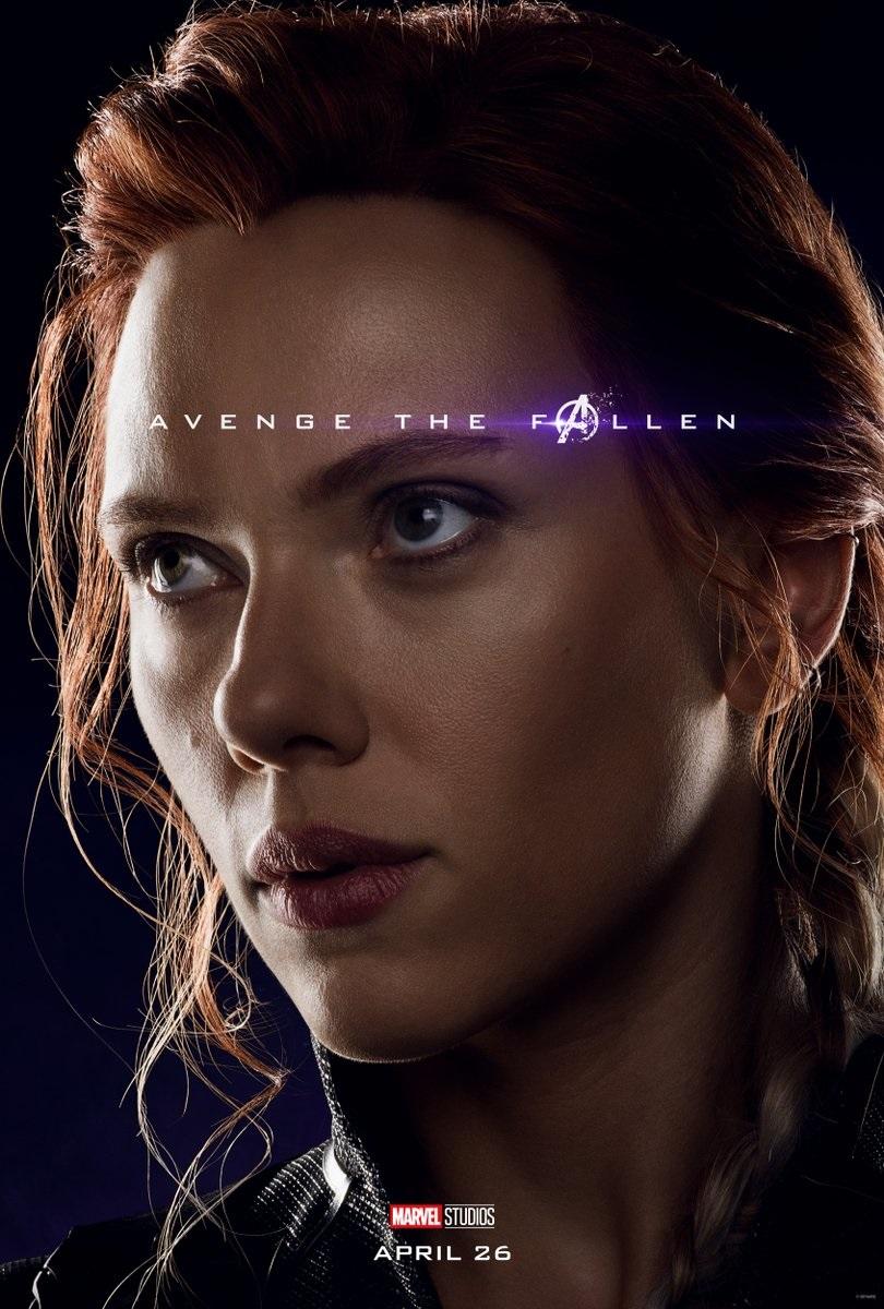 Endgame character poster for Scarlett Johansson's Black Widow