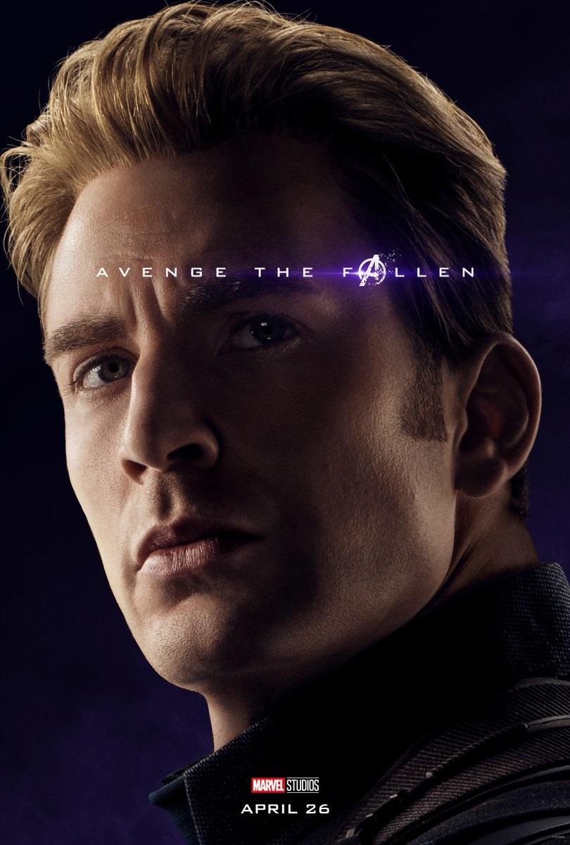 Endgame character poster for Chris Evans' Captain America