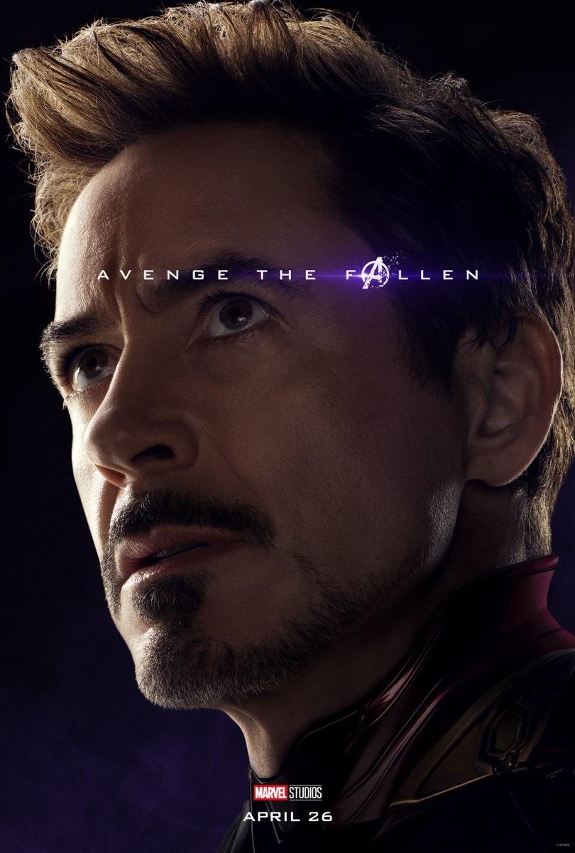 Avengers: Endgame character poster for Robert Downey Jr.'s Iron Man