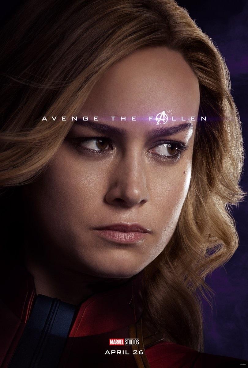 Endgame character poster for Brie Larson's Captain Marvel