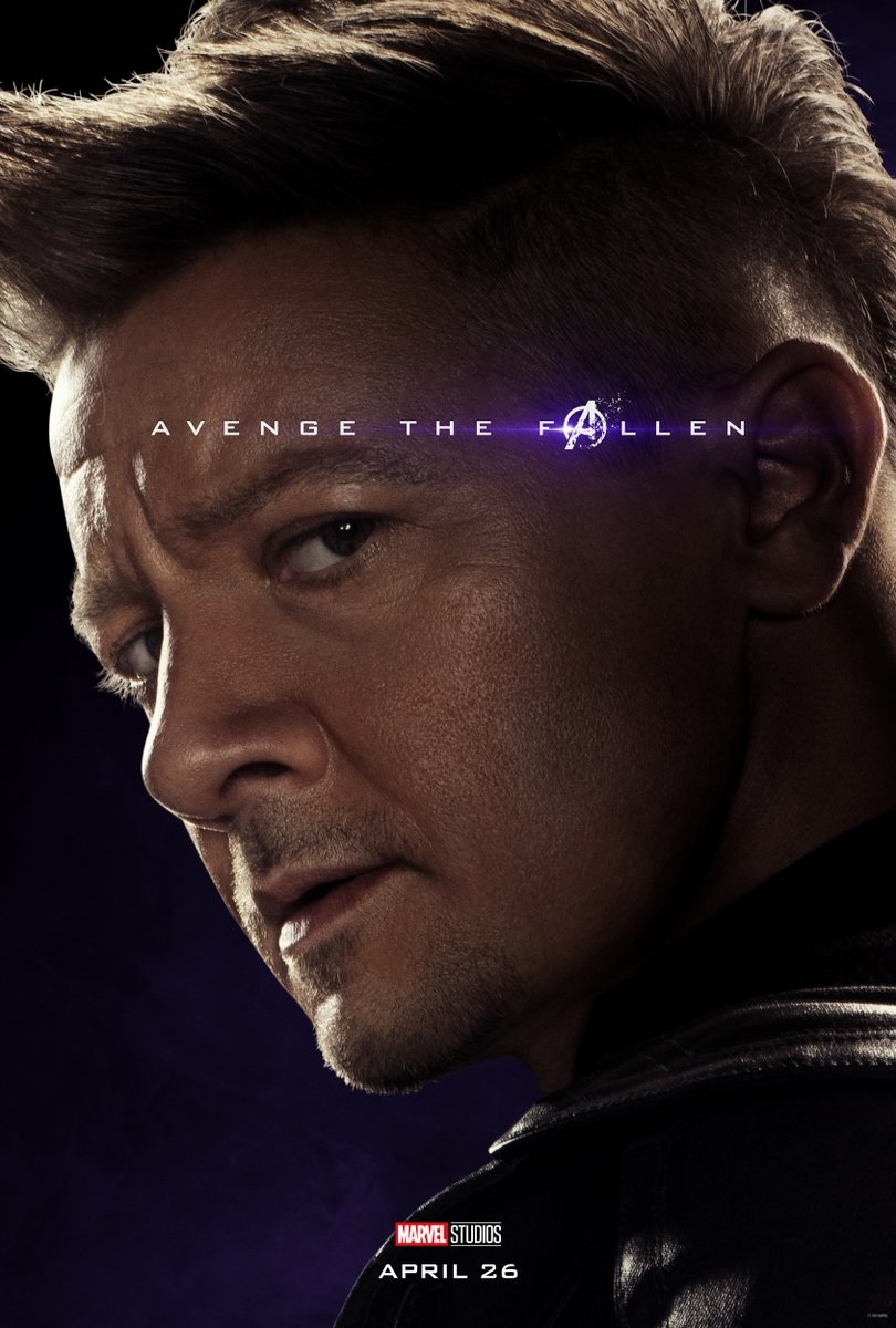 Endgame character poster for Jeremy Renner's Hawkeye