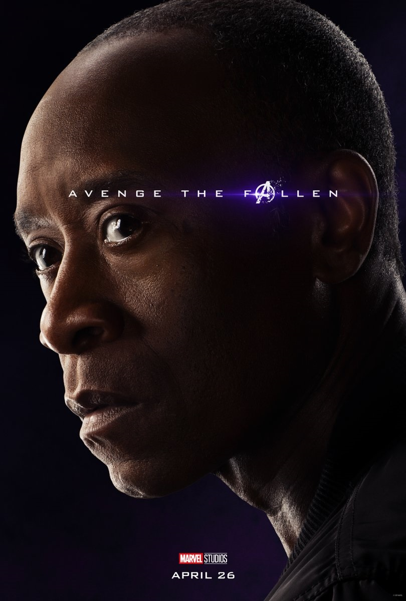 Endgame character poster for Don Cheadle's War Machine