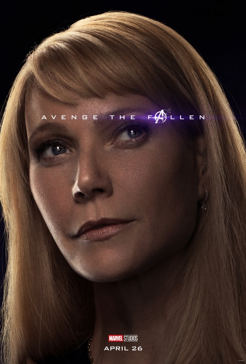 Endgame character poster for Gwyneth Paltrow's Pepper Potts