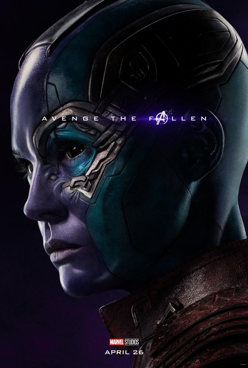 Endgame character poster for Karen Gillan's Nebula