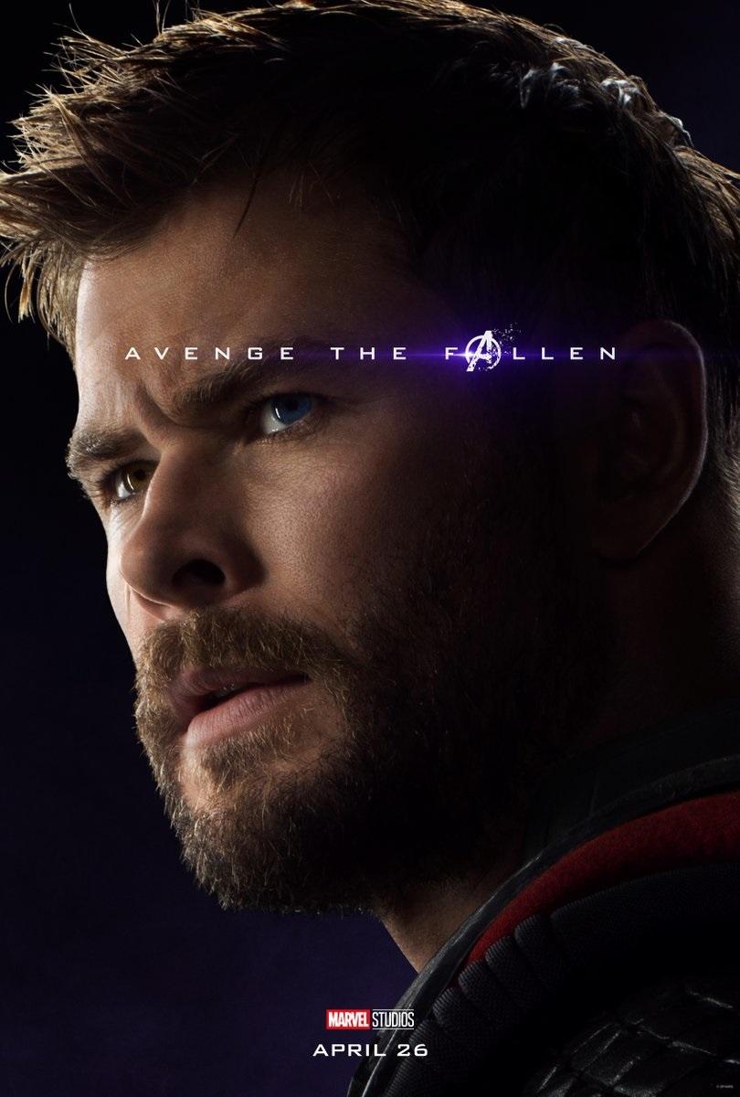 Endgame character poster for Chris Hemsworth's Thor