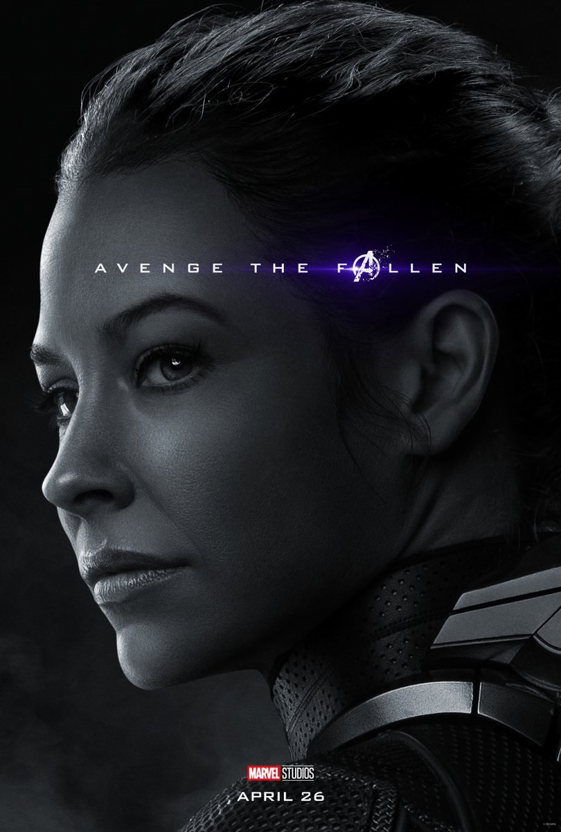 Endgame character poster for Evangeline Lilly's Wasp