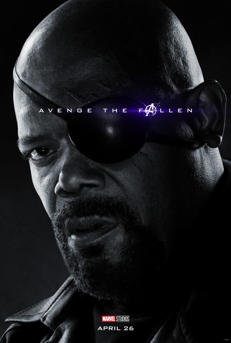 Endgame character poster for Samuel L. Jackson's Nick Fury