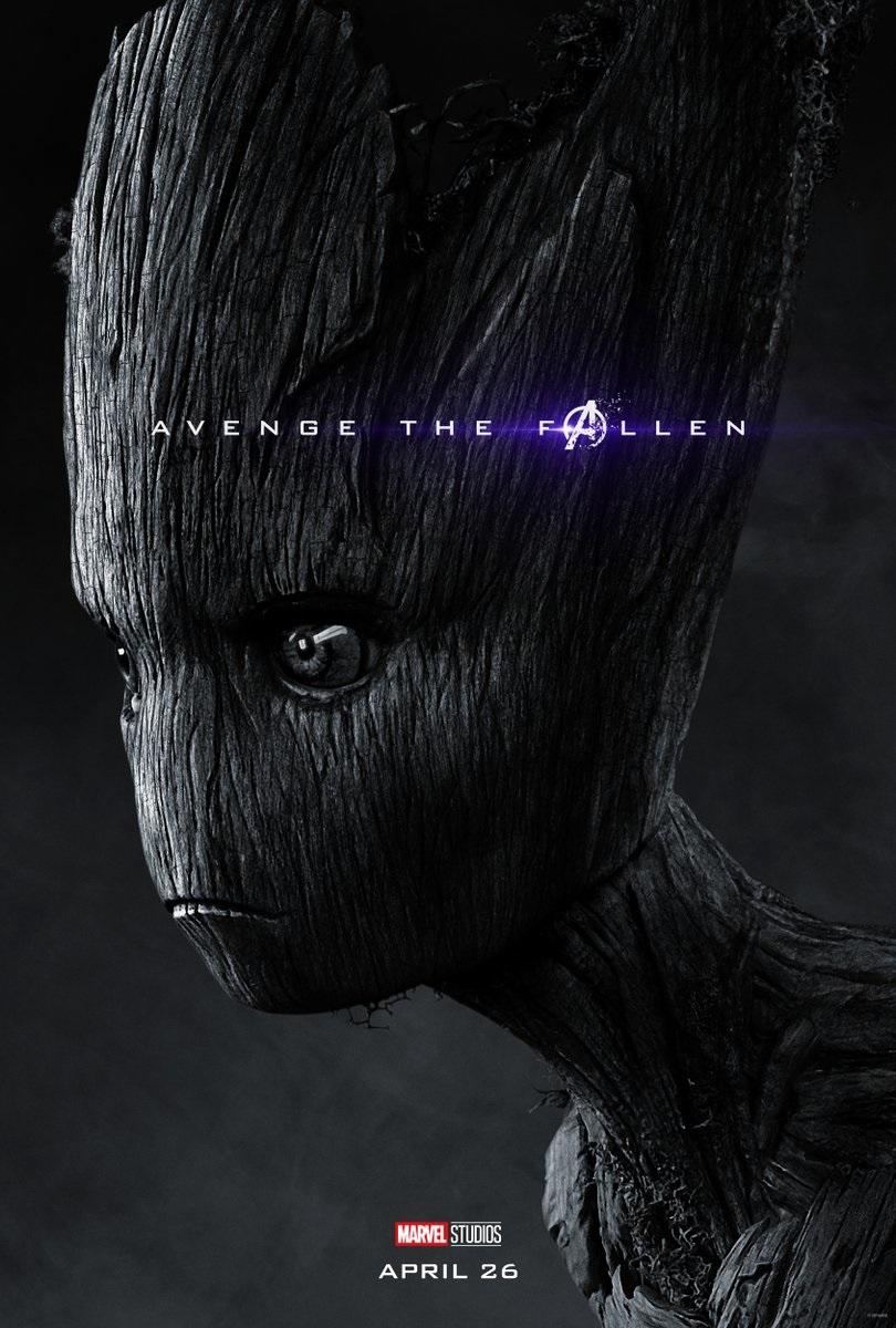 Endgame character poster for Vin Diesel's Groot