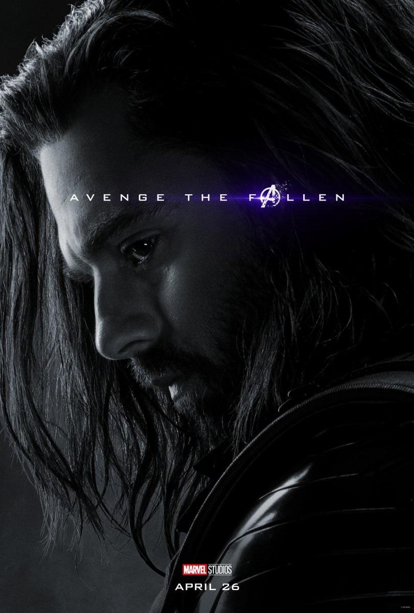Endgame character poster for Sebastian Stan's Winter Soldier