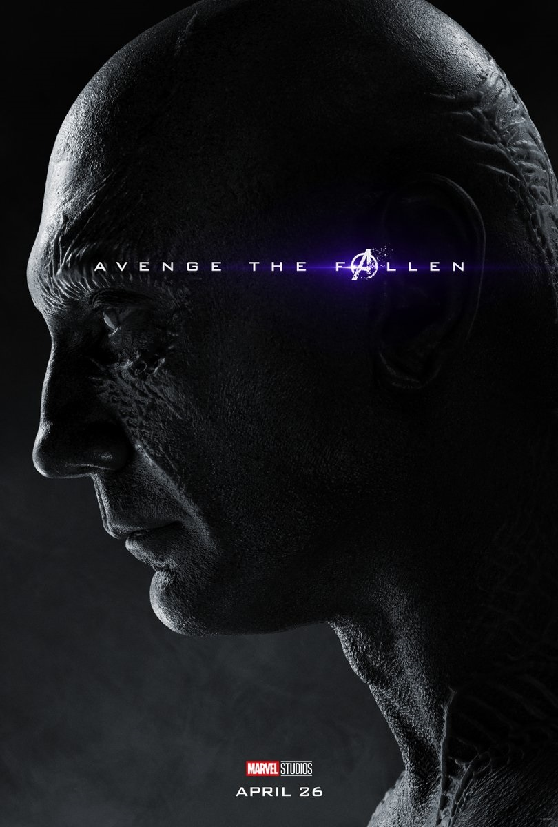 Endgame character poster for Dave Bautista's Drax