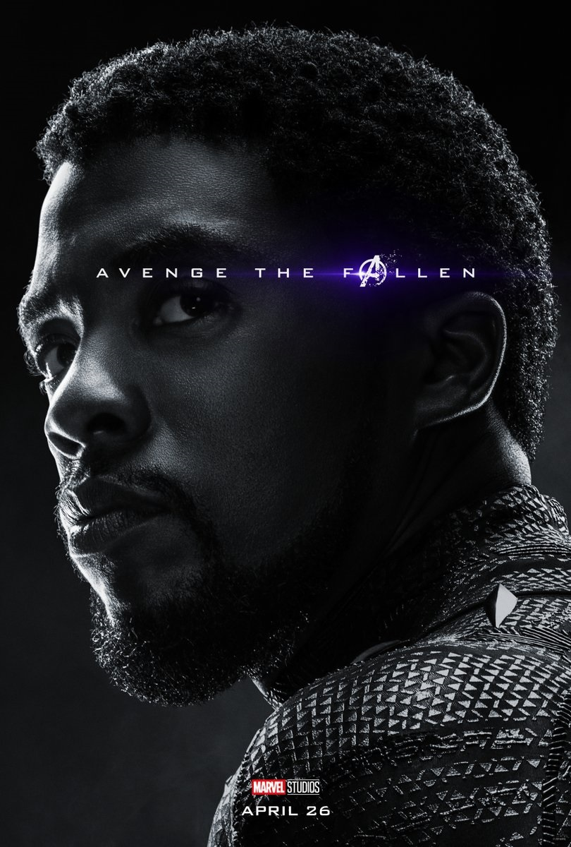 Endgame character poster for Chadwick Boseman's Black Panther