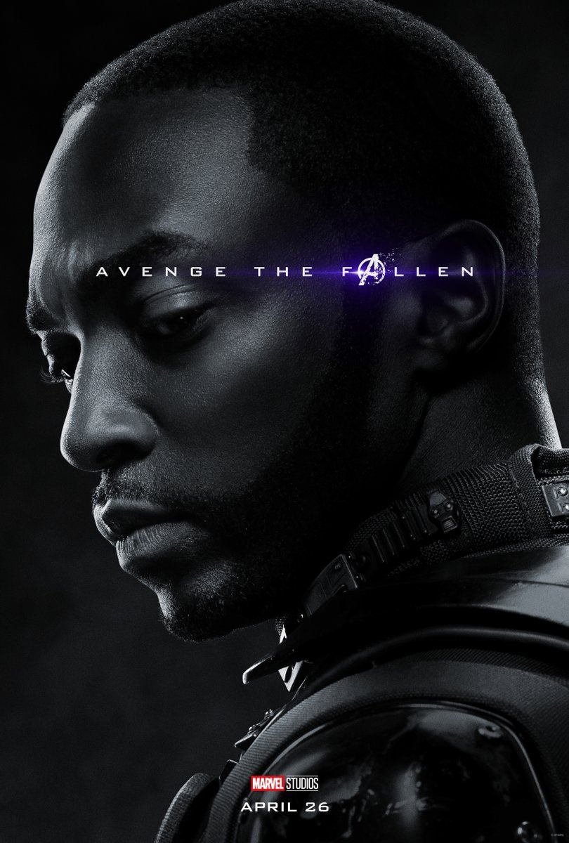 Endgame character poster for Anthony Mackie's Falcon